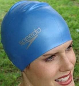 Speedo Silikon-Badekappe für lange Haare
