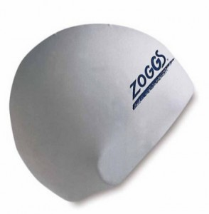 Zoggs Latex Swim Cap Badekappe weiß