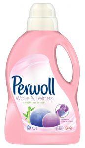 Feinwaschmittel der Marke Perwoll, das auch für Daunen geeignet ist